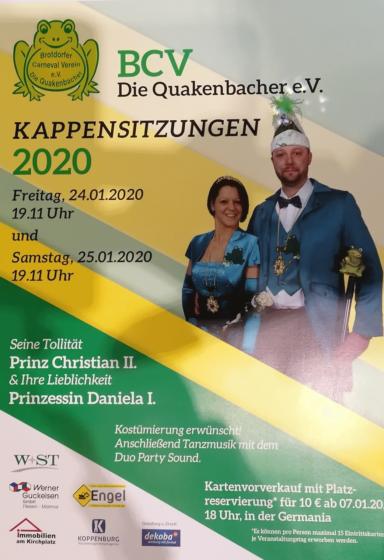 Plakat Kappensitzung 2020
