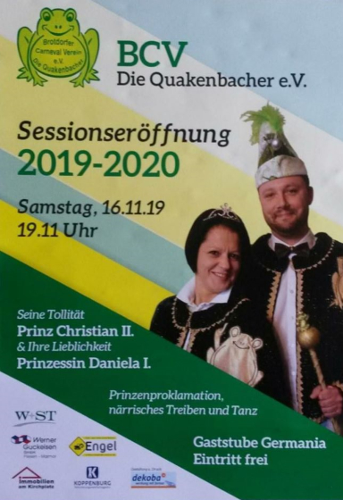 Session Eröffnung 2019